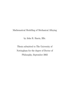 phd thesis in mathematical modeling Modelling and parameter estimation of bacterial growth with distributed lag time phd thesis by józsef baranyi doctoral school of informatics university of szeged, hungary 2010  acknowledgement  be found in biotechnology with its mathematical models well elaborated in the 60's when the.