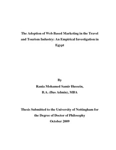 Dissertation in travel and tourism