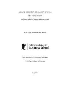 Thesis on sustainability reporting