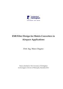 Matrix converter and phd thesis