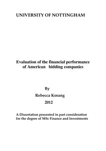 Thesis on financial performance of companies