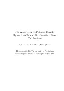 dye sensitised solar cell thesis Xin, xukai, dye- and quantum dot-sensitized solar cells based on nanostructured wide-bandgap semiconductors via an integrated experimental and modeling study (2012)graduate theses and dissertations 12527 12 model for dye-sensitized solar cell.