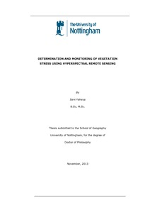 Phd thesis in remote sensing and gis