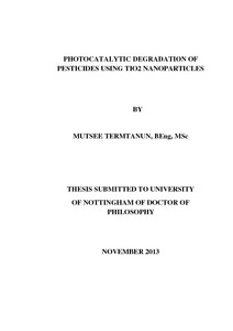 Phd thesis on pesticides