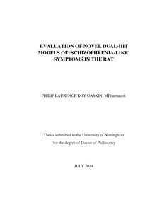 Phd thesis schizophrenia