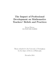 Thesis for phd in mathematics