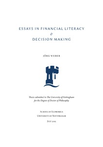essays in financial literacy decision making nottingham eprints preview
