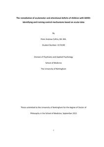 Adhd phd thesis