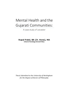 Mental health and the Gujarati communities: a case study of