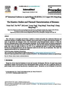 The kinetics studies and thermal characterisation of biomass